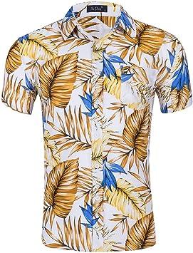 Men-yy Camisa de Manga Corta para Hombre, Camisa Hawaiana para Hombre, Mangas Cortas, Camisas de fantasía, Estampado de Flores, Camiseta, Playeras Playeras, 2: Amazon.es: Deportes y aire libre