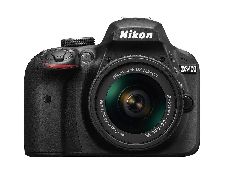 2017 Nikon D3400 24.2 MP DSLR Camera + AF-P DX NIKKOR 18-55mm f/3.5-5.6G VR Lens (Black) (Certified Refurbished)