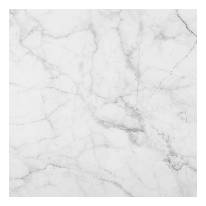 Bilderwelten Glass Splashback - Bianco Carrara - Square 1:1, Backsplash Cooker Splashback Protector Panel Decorative Splashback Panel, Dimension HxW: 59cm x 60cm PPS. Imaging GmbH