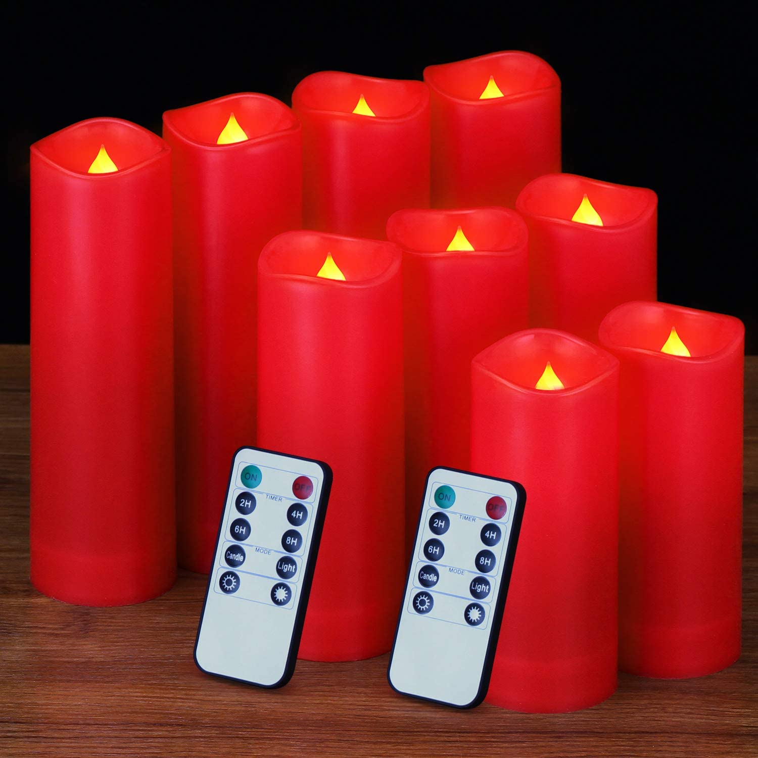 Flameless Candles, Battery Candles Led Candles Pack of 9 (D: 2.2