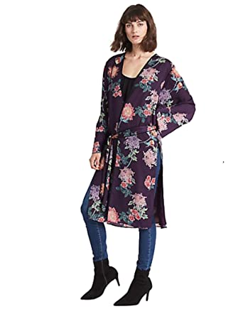 7f2a36023f9 Marks and Spencer Stylish Floral Print Longline Long Sleeve Kimono Top (8)