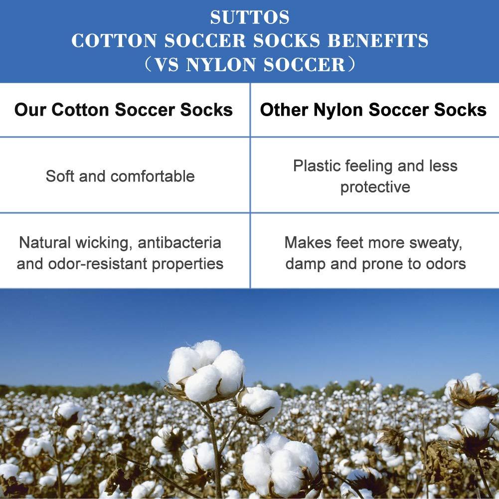 SUTTOS Unisex Knee High Solid Sport Football Team Socks 2-10 Pairs Long Tube Soccer Socks