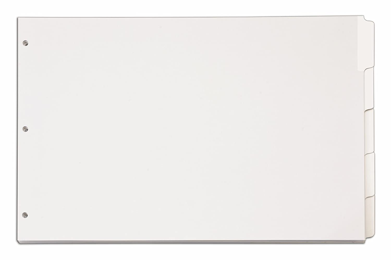 TOPS Cardinal 11x17 Write'n Erase Tab Divider, 5-Tab, White, (84270CB) TOPS Business Forms Inc.