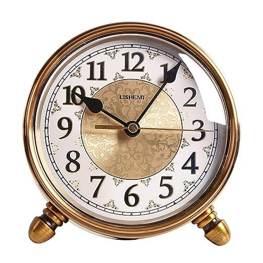KJH Reloj de Mesa, Vintage Pequeño Relojes Análogos De Escritorio ...