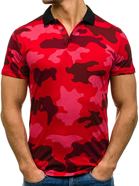 BOLF Herren Polo T-Shirt Poloshirt mit Muster Military Army Camo Casual  Style 3C3  Amazon.de  Bekleidung c028c1ec94