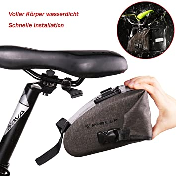 Amazon.com: Bolsa de sillín para bicicleta, impermeable ...