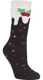 HEAT HOLDERS - Hombre Mujer Termicos Calientes Antideslizantes Calcetines Navidad para Casa