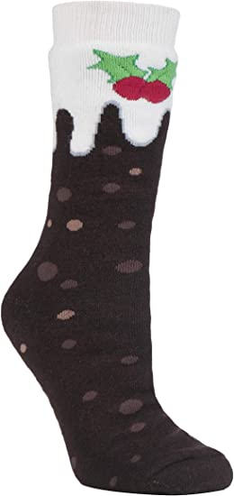 Heat Holders Mens Womens Thick Warm Anti Slip Christmas Thermal Slipper Socks