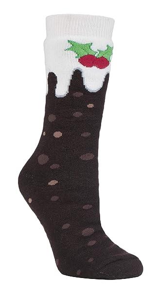 HEAT HOLDERS - Hombre Mujer Termicos Calientes Antideslizantes Calcetines Navidad para Casa: Amazon.es: Ropa y accesorios