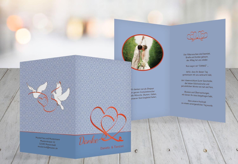 Kartenparadies Danksagung für Hochzeitsgeschenke Hochzeit Dankeskarte Turteltäubchen, hochwertige Danksagungskarte Hochzeitsglückwünsche inklusive Umschläge   20 Karten - (Format  105x148 mm) Farbe  DunkelgrauBraun B01MTBFPU2 | Ne