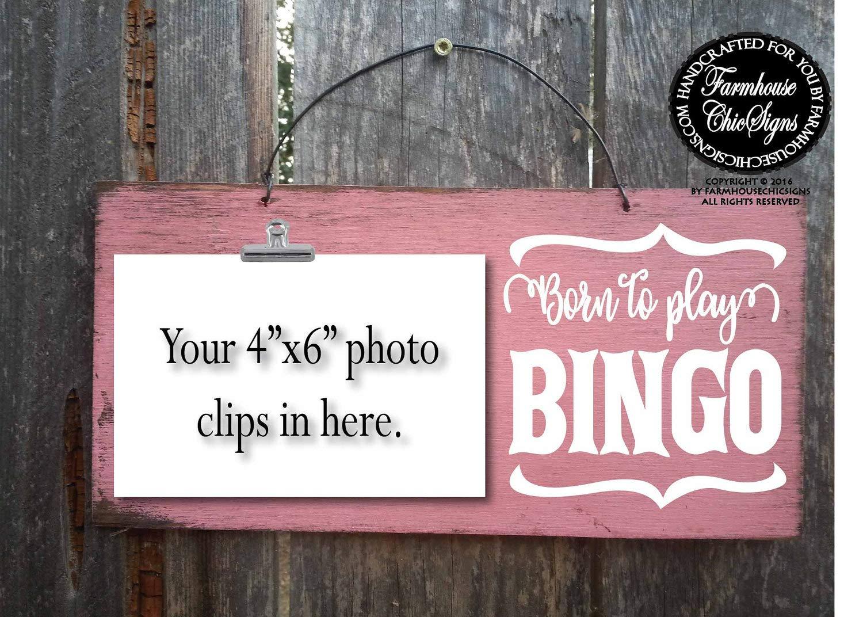 CELYCASY Born to Play Bingo Bingo Sign Bingo Gift Gift for Bingo Player Bingo Gift Bingo Decor Bingo Decoration 268