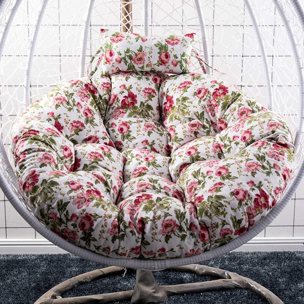 MWPO Cestino Appeso Cuscino per Sedia Altalena Cuscini per Sedia Cuscini per sedie Rotondi in Vimini Cuscino di Ricambio Nido Spesso Lavabile 41 Pollici a D105cm