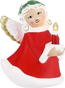 "Mr. Christmas Mini Ceramic Figures 5"" - Angel Christmas Décor, Multicolor"