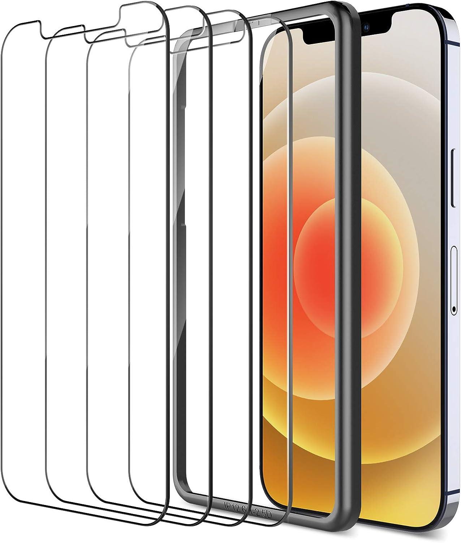 LK 4 St/ück Panzerglas Schutzfolie Kompatibel mit iPhone 12//iPhone 12 Pro, Blasenfrei 12//12 Pro Panzerglasfolie 6.1 Zoll Einfacher Montage Anti-Kratzen 9H H/ärte HD Klar Displayschutzfolie,