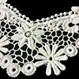 White Sunflower Floral Lace Collar Fabric Trim