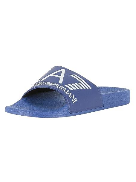 EA7 Hombre Sea World Sliders Azul