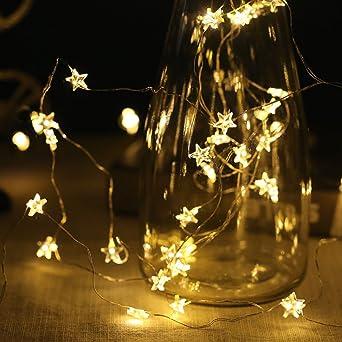 Weihnachtsbeleuchtung Lichterketten Led.Weihnachtsbeleuchtung Lichterketten Sterne 40 Warmweiß Led 6m Mit Usb Anschluss Für Weihnachten Weihnachtstag Party Hause Schlafzimmer Dekoration