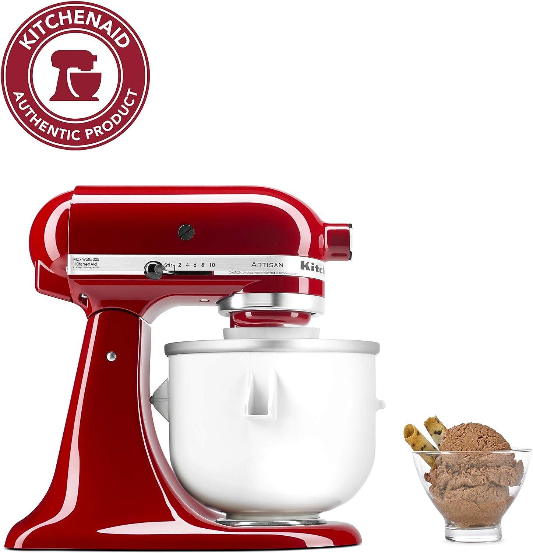 Amazon Com Kitchenaid Ice Cream Maker Attachment Excludes 7 8 And Most 6 Quart Models Kitchenaid Mixer Attachments Kitchen Dining
