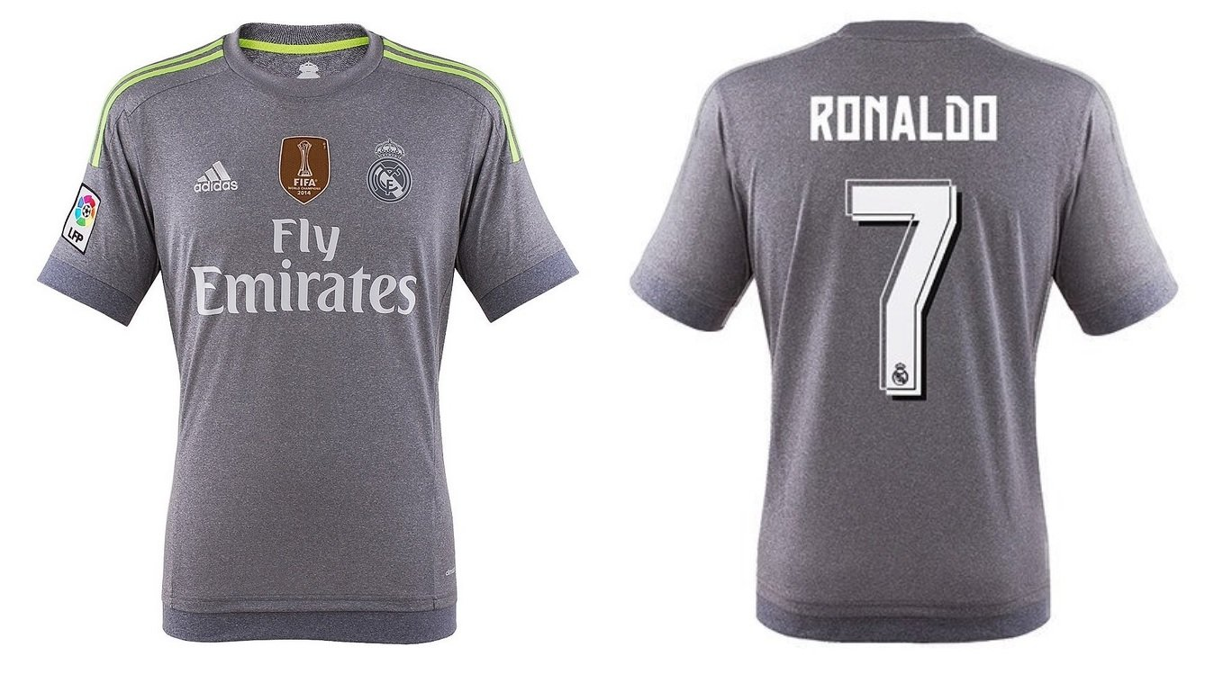 Trikot Kinder Real Madrid 2015-2016 Away WC - Ronaldo 7