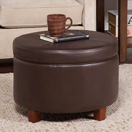 Enjoyable Amazon Com Tufted Faux Leather Ottoman Lid Off Lid Extra Gmtry Best Dining Table And Chair Ideas Images Gmtryco