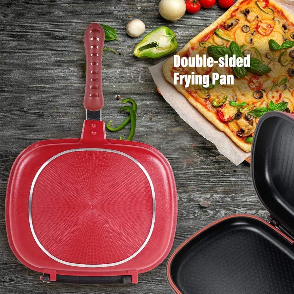 JooDon Friture Pliable Double Face Pan - antiadhésive Barbecue Outil de Cuisson - 28/32 CM 32cm