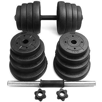 yahee Juego de pesas cortas, juego de mancuerna, barras de pesas con barras de pesas variantes con cierres de estrella: Amazon.es: Deportes y aire libre