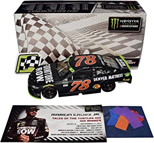 AUTOGRAPHED 2017 Martin Truex Jr. #78 Furniture Row CHICAGOLAND PLAYOFFS WIN (Tales of the Turtles 400) Raced Version Signed Lionel 1/24 Scale NASCAR Diecast Car with COA (#608 of only 793!)