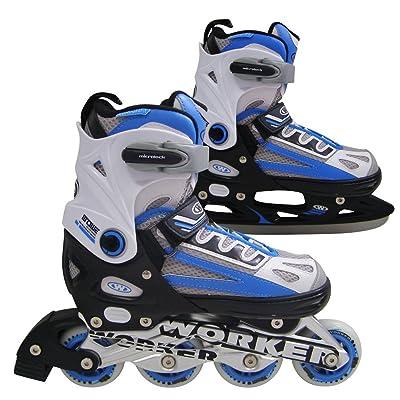 2–en - 1 roller grösenverstellbar 29–43 patins à glace nolan rouge