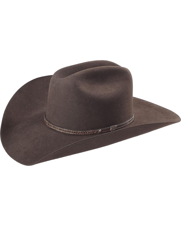 Justin Men's Bent Rail Beardown 7X Cowboy Hat Brown 7 3/8