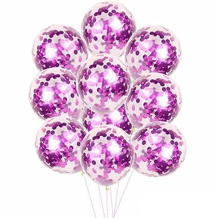 Amazon.com: Yeefant 10Pcs Magic Sequins Foil Latex Confetti Balloon ...