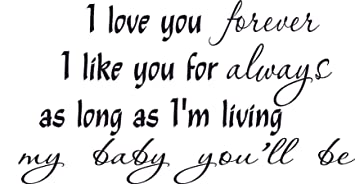 Amazoncom Love You Forever Like Always Babylove Personalized