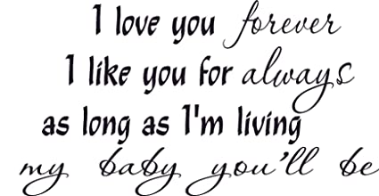 Love You Forever, Like Always, Baby/love (Personalized) You ...