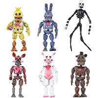 Inspired by Five Nights at Freddy's | Set of 6 pcs | Action Figures Toys Dolls | Xmas Gifts Cake Toppers | Christmas Toys Gifts