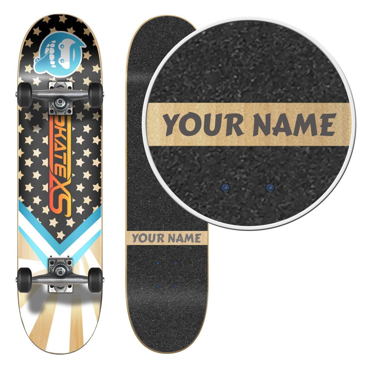 SkateXS Personalized Beginner Starboard Street Skateboard by SkateXS