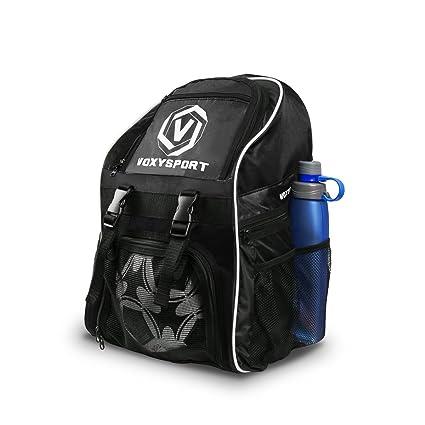 Mochila de fútbol Bolsa para deporte con bolsillos de botas de fútbol Bolso para balón Saco