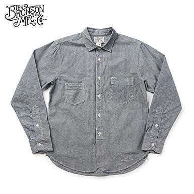 2f1dc5def2 Bronson Men s Blue Denim Selvage Fabric Shirts at Amazon Men s ...