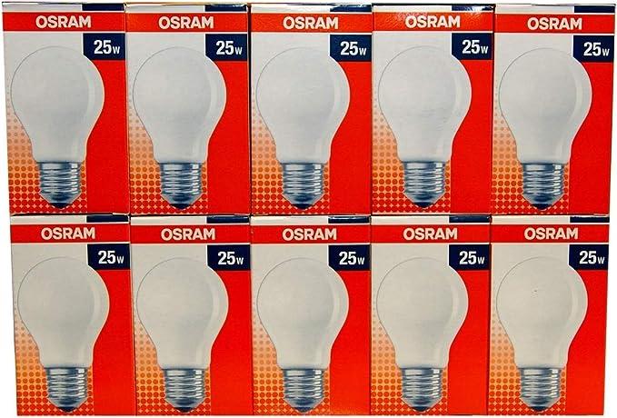 5 x Osram Glühbirne 25W GRÜN E27 25 Watt Glühlampe Glühlampen Glühbirnen Party