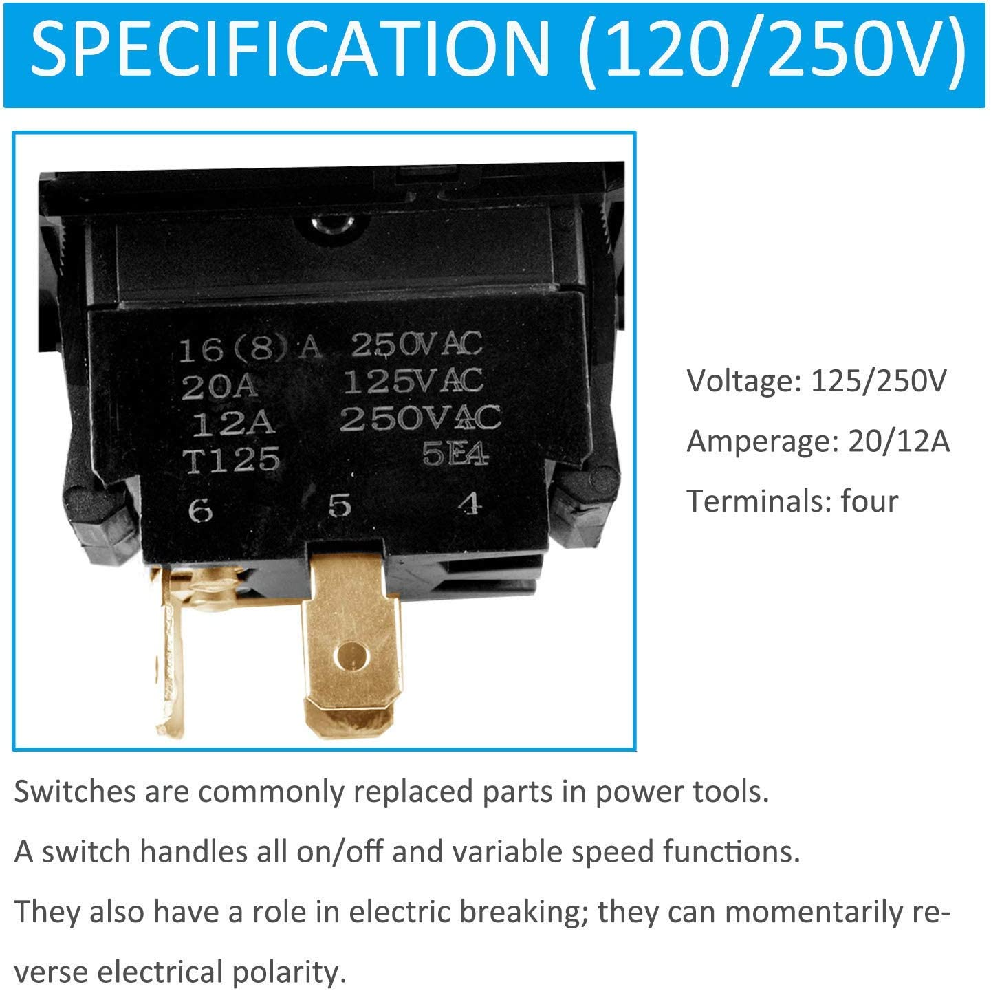 """Replacement Part for 10/"""" Table Saw Switch Compatible w// 889110109712 BESTSELLER"""