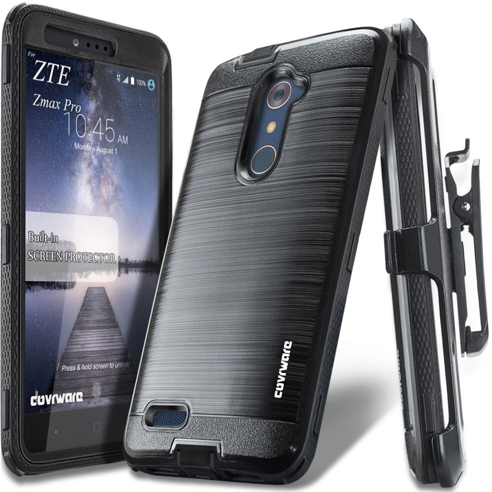 ZTE ZMAX Pro Case Rugged Holster Armor Built-in