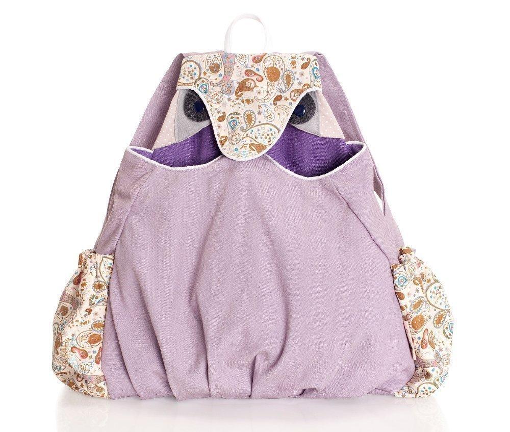 40f4b67ad Amazon.com: Black Friday|Cyber Monday Sale! Owl Backpack, Boys backpack,  School bag, Toddler backpack, Animal bag, preschool backpack - Purple and  paisley ...