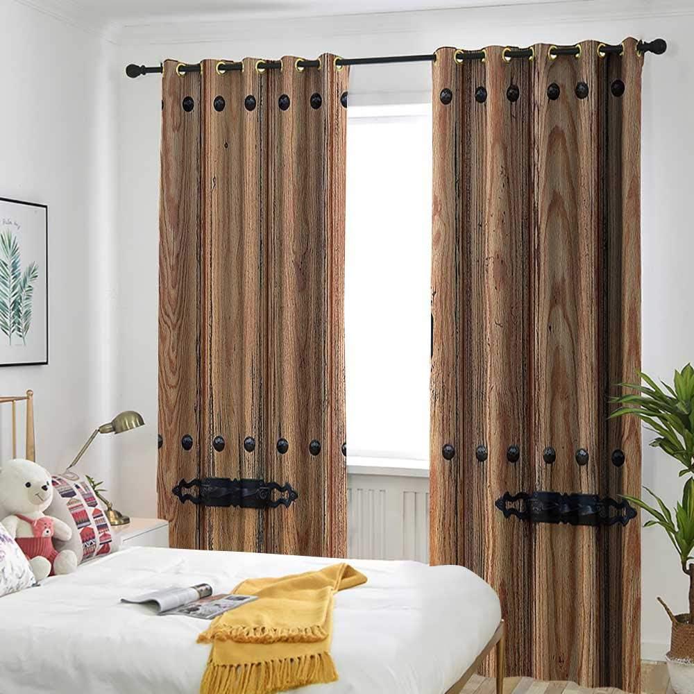 AndyTours Cortina rústica para Puerta corredera, Paneles de Madera con Efecto de Tonos Digitales, para salón, Color Verde Azulado y Gris: Amazon.es: Hogar