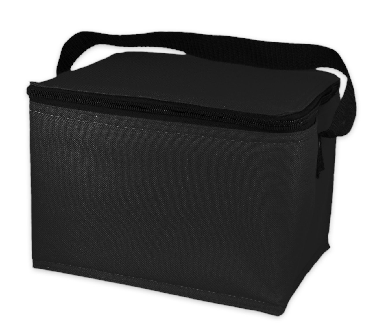 EasyLunchboxes Insulated Lunch Box Cooler Bag, Black
