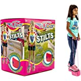 My First Flybar Kids Stilts For Ages 3 & Up, Soft and Safe Foam Pogo Steppers Squeak With Each Step – Foam Hand Grips With Sturdy Rope Handles