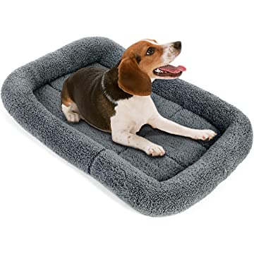 Pecute Pet Cushion Sleeping Mat for Dog Comfortable Coral Velvet Pillow Crate Bed