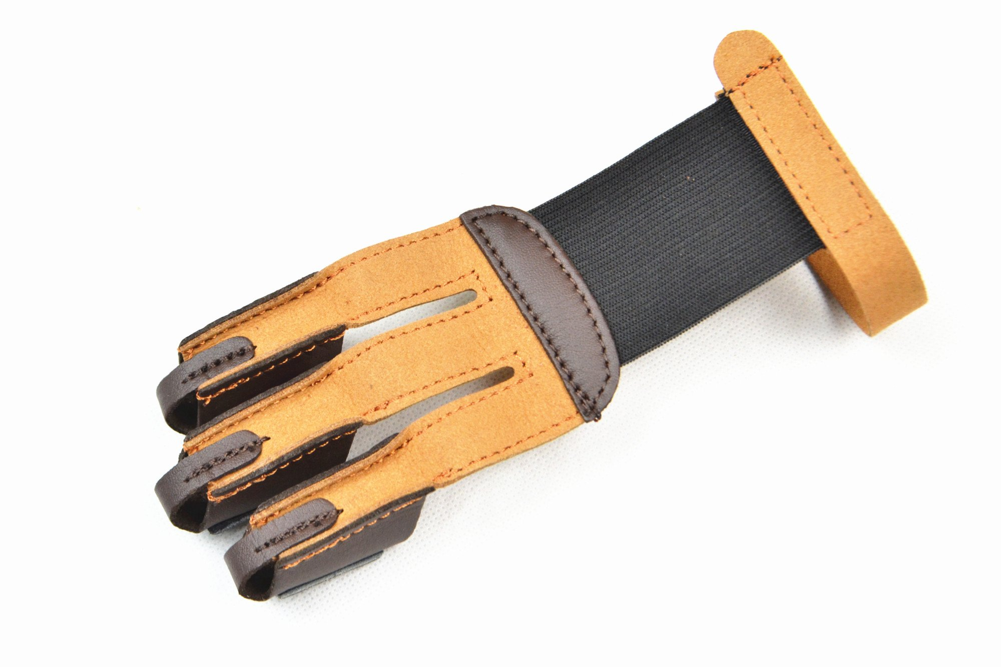 3 Finger Bow arrow broadheads Archery Hunting Shooting Glove Leather Finger Tip Protector Finger Guard Pull Archery