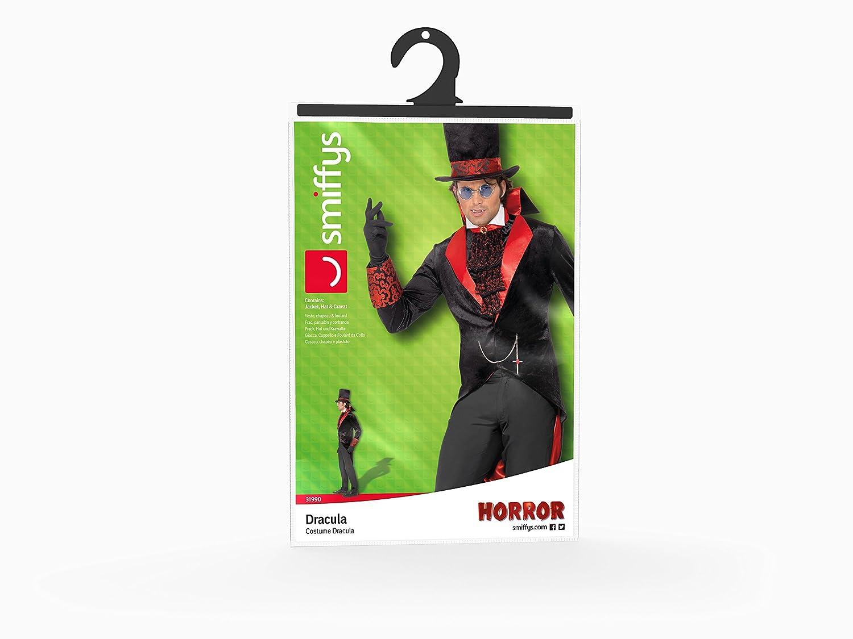 Smiffys - Disfraz de Drácula para hombre, talla M (48 - 50) (SM31990-M): Amazon.es: Juguetes y juegos