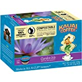 Kauai Coffee, Garden Isle Medium Roast, Compostable Single Serve Coffee Cups, 12 Count