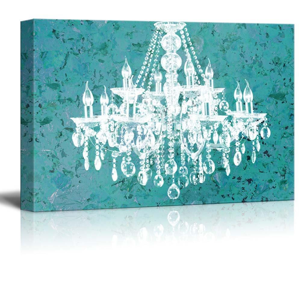vintage tech chandelier lamp shop crystal pink l online art wall zazzlecom super canvas