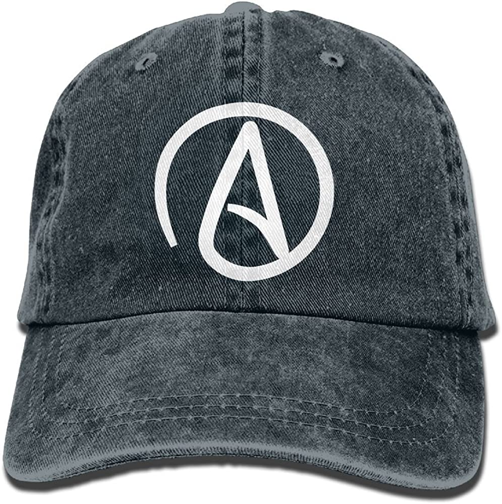 Atheist Sign Plain Adjustable Cowboy Cap Denim Hat for Women and Men
