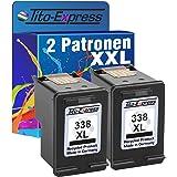 PlatinumSerie® 2x Druckerpatrone für HP 338 XL Black PSC 1510 1500 1510S 1510XI 1513S 1600 1603